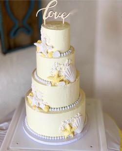 4 Tier Beach Wedding Cake