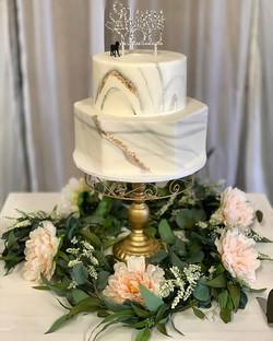 Marble 2 Tier Wedding Cake