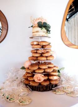 Naked Cake Donut Tower