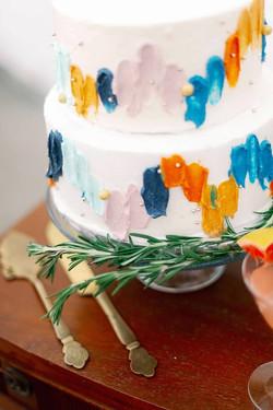 2 Tier Vintage Wedding Cake Details