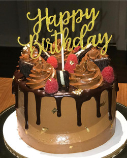Happy Birthday Choc Drip Cake