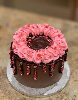 Valentines Drip Cake