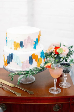 2 Tier Vintage Wedding Cake