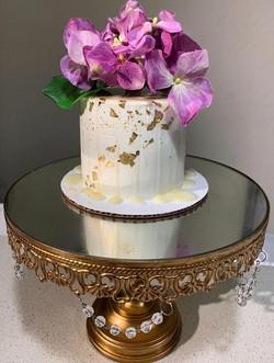 Floral Gold Leaf Cake