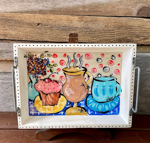 """Beachside Bistro #2"" 13"" x 10"" Serving Tray"