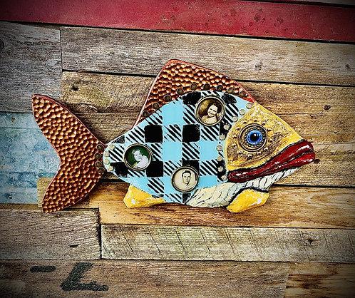 """""""Farm Bureau"""" 16.5"""" x 10"""" wall fish"""