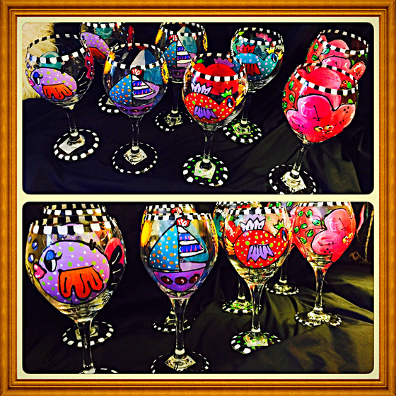 Hand Painted Glassware...A GREAT DIY GIFT IDEA