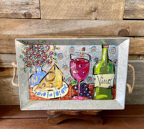 """""""Bistro Rouge"""" 19"""" x 13"""" Serving Tray"""