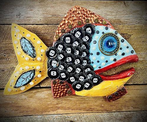 """""""Shell Fish"""" 12"""" x 9"""" Wall Fish"""