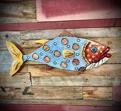 """Wicked Tuna"" 25.5""x12"" Wall Fish"