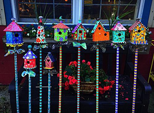 Birdhouse Garden Sticks