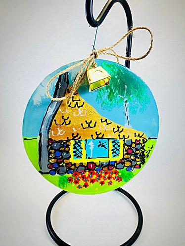 """Half House"" 6"" dia. Ornament"
