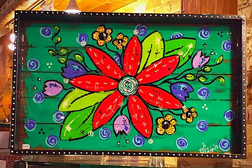 New 2017 Flower Power Serving Tray