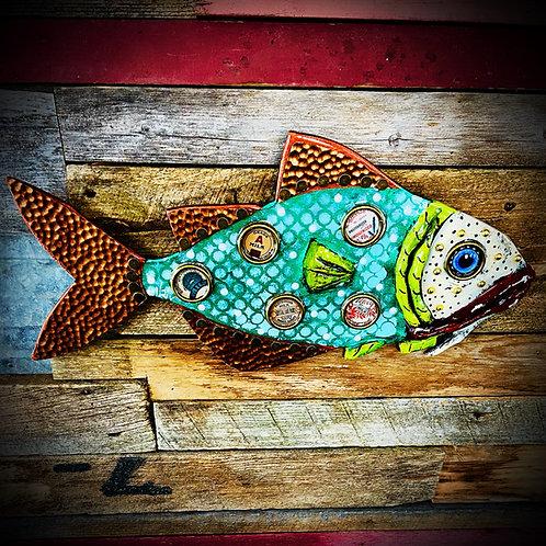 """""""Cloverfield"""" 19"""" x 8"""" Wall Fish"""