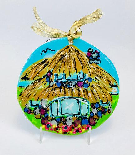 "3"" dia. Mushroom House Ornament"