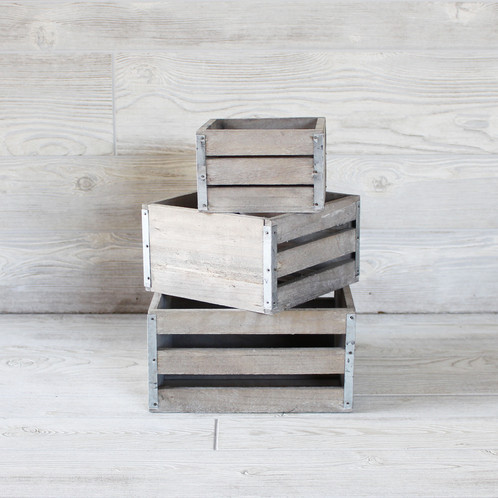 Wooden Crates - Square Set | Firefly Premier Events - Event ...