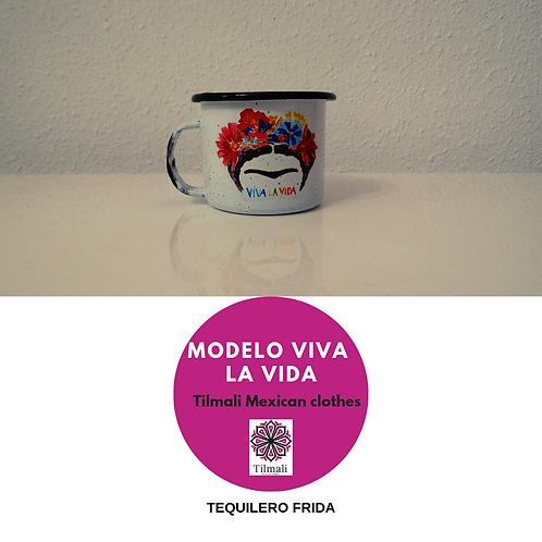 Tochcaxitltepiton Frida (Taza de peltre pequeña)