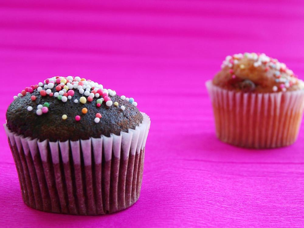Chocolate & Vanilla Muffins