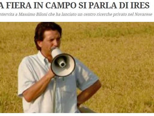 """Su Riso Italiano si parla di IRES / *""""Riso Italiano"""" describes IRES on its website"""