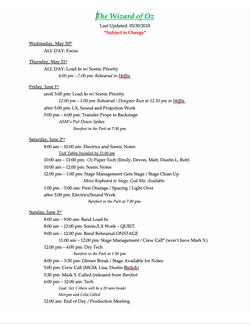 Tech Schedule