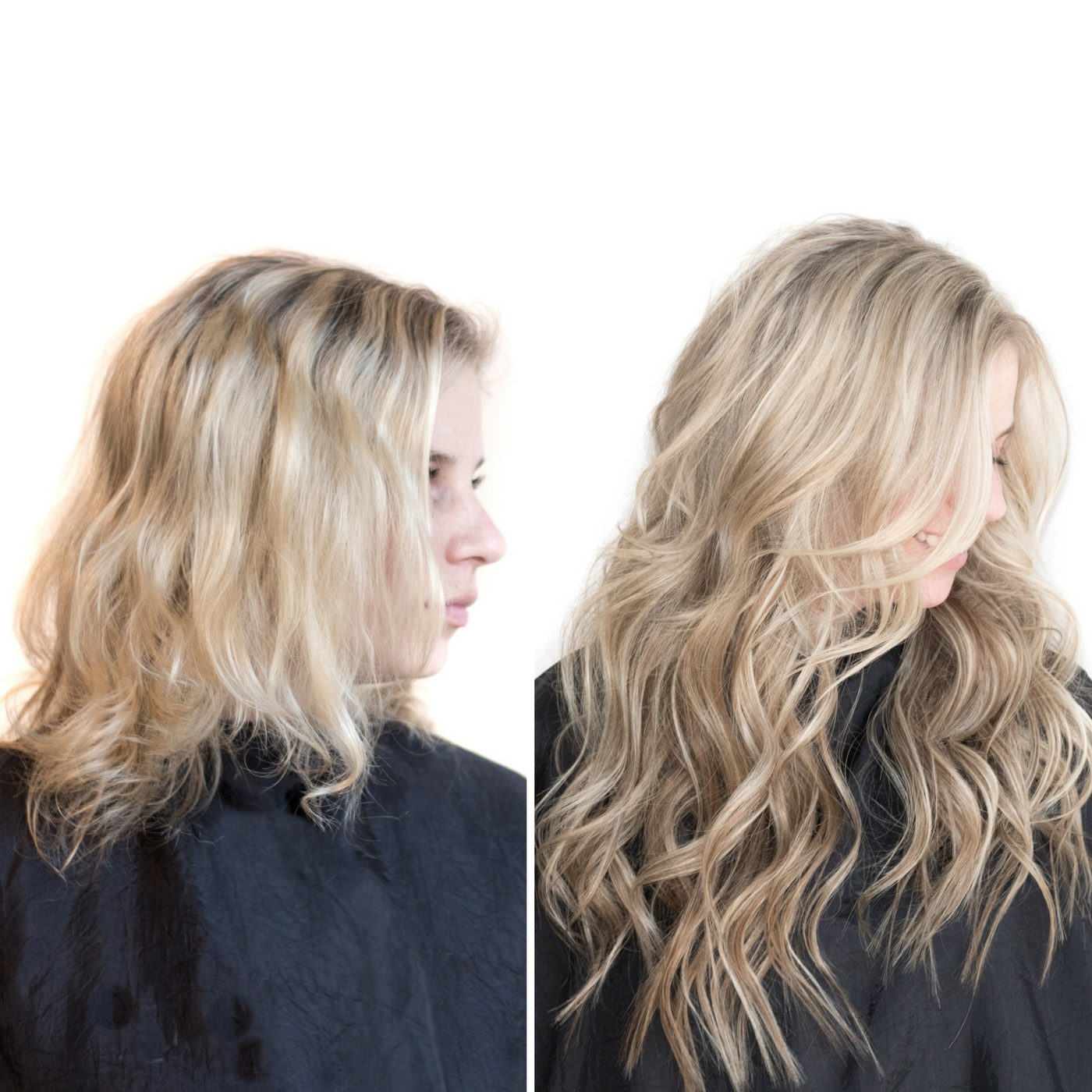 Before & After Hair Extensions