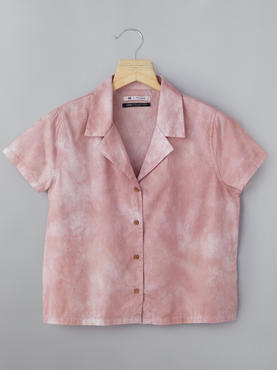 Bowling Collar Shirt With Tie–Dye