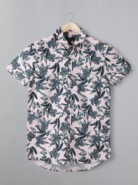 Polin Printed Pink Shirt