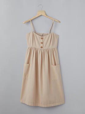 Beige Dress With Patch Pockets