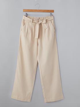 Pants With Pleat & Belt