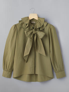 Blouse With Double Collar Bow