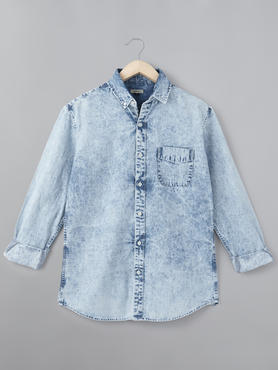 Mens Shirt With Cloud Wash