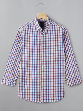 Red And Blue Checks Shirt