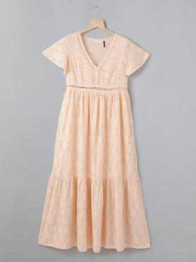 Dress With Allover Embroidery