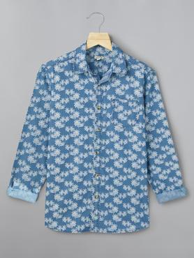 Floral Denim Shirt