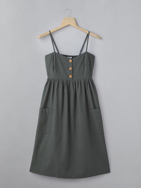 Charcol Grey Dress With Patch Pockets