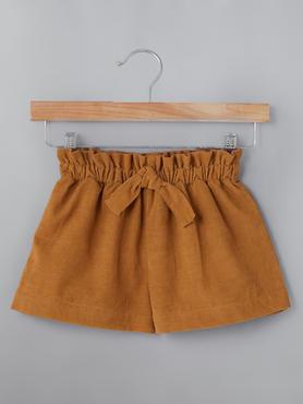 Burnt Orange Shorts With Belt