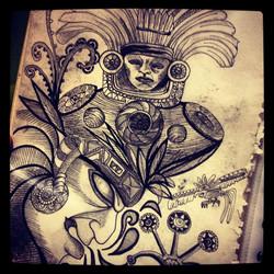 Aztec fantasy ©Nadia Besomi