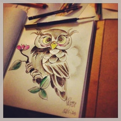 """Owl"" ©Nadia Besomi"
