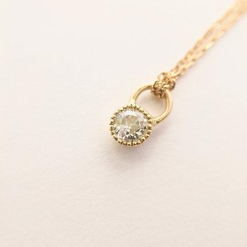 Collier Diamant Solitaire Millegrain
