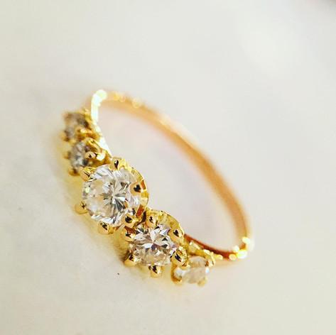 Bague or 750/1000, diamants