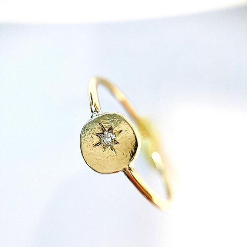 Bague Pastille - Diamant serti étoile