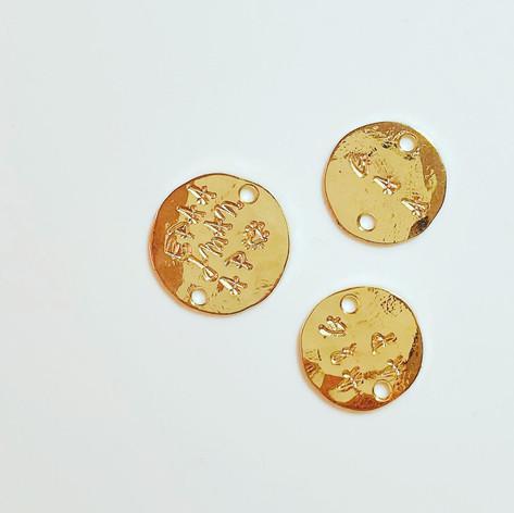 Médailles frappées en vermeil