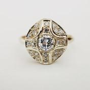 Bague revisitée en or recyclé et diamants