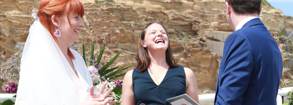 Bride and Groom, Beach Wedding, Vows, I do, Ceremony, Newcastle, Marriage Celebrant, Amy Webster Marriage Celebrant, Readheadh Beach