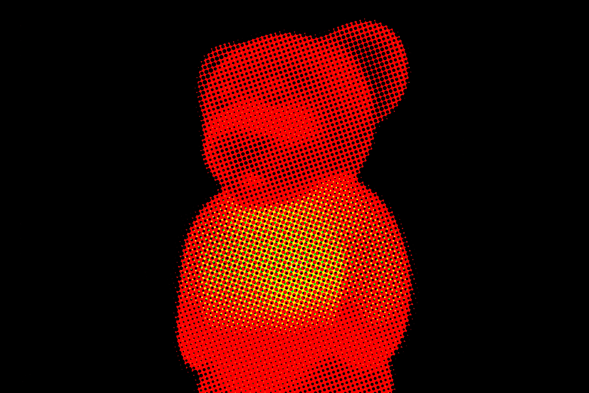 Halftone Illuminated teddy Bear