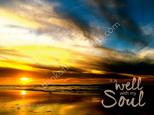 It Is Well Sunset | Wall Decor: Photograph w/basic matte or on canvas