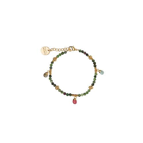 Bracelet Amulettes Rubis Zoizite