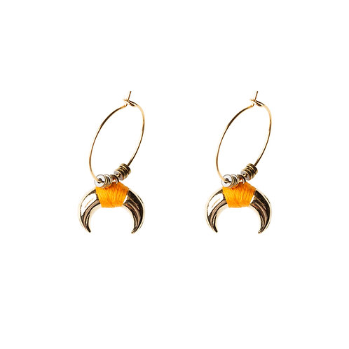 Boucles d'oreilles Ranch orange