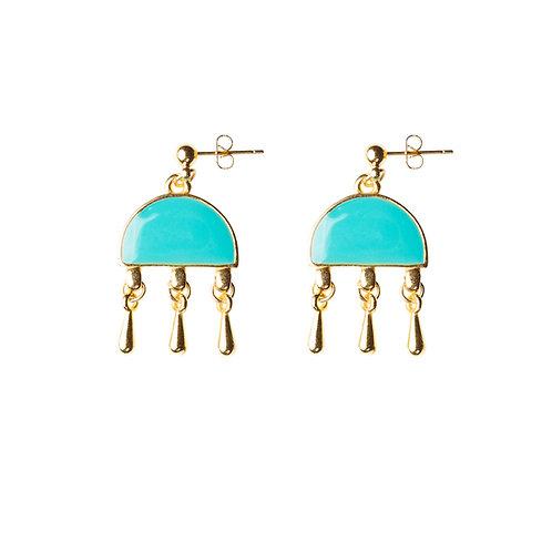 Pendents d'oreilles turquoise