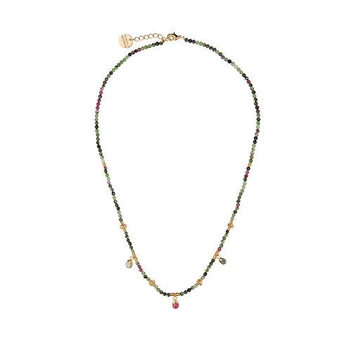 Collier Amulettes Rubis Zoizite